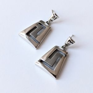 Jewelry - Sterling Geometric Drop Earrings Made in Poland